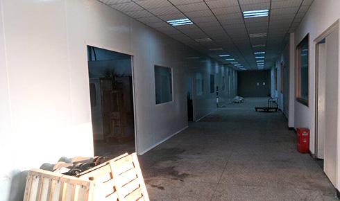 四川晶美硅业科技有限公司厂房装修工程案例
