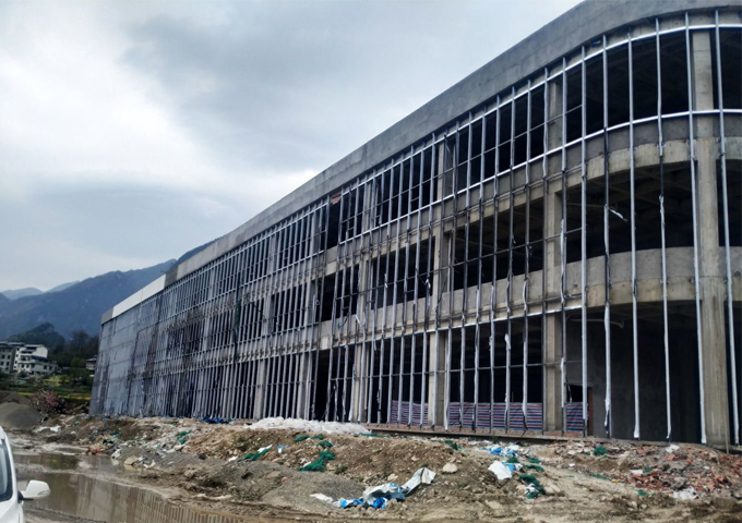 重庆美缀美食品有限公司厂房施工现场